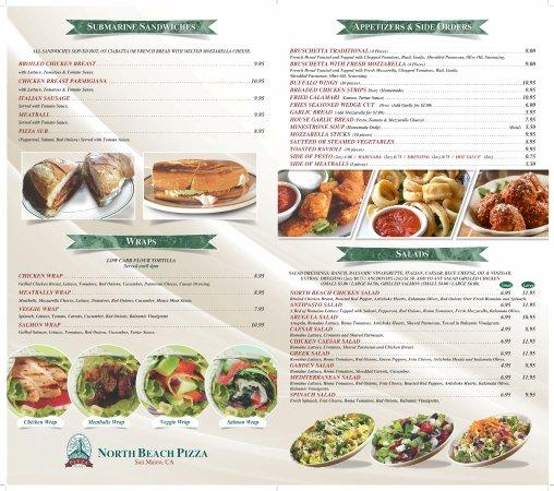 San Mateo, Californien: Dine in Menu part 02