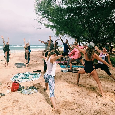 Kahului, HI: What a fun activity for your group or family: a Yoga or Fitness class outside!