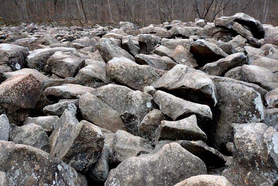 Upper Black Eddy, PA: try climbing these rocks, wear boots