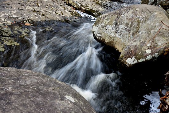 Upper Black Eddy, PA: entrance to waterfall
