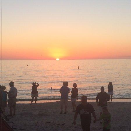 Marco Beach Vacation Suites: Sun Setting on Marco Island beach.