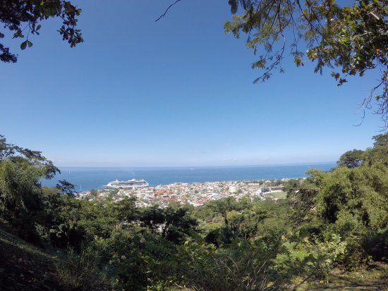 Roseau, Dominica: View from the top of the hill