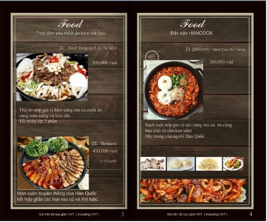 Menu  Picture Of Hancook Cafe  Food Da Nang  Tripadvisor