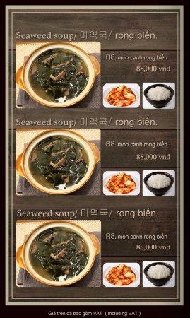 Hancook Restaurant Menu
