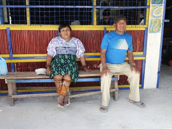 Nalunega, Panamá: Owner and wife; very nice and hospitable/accommodating people