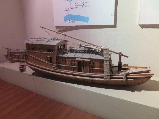 Huai'an, Chine : 運河の船模型