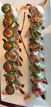 Ninja Sushi: Spicy Rhonda roll, Tiger roll