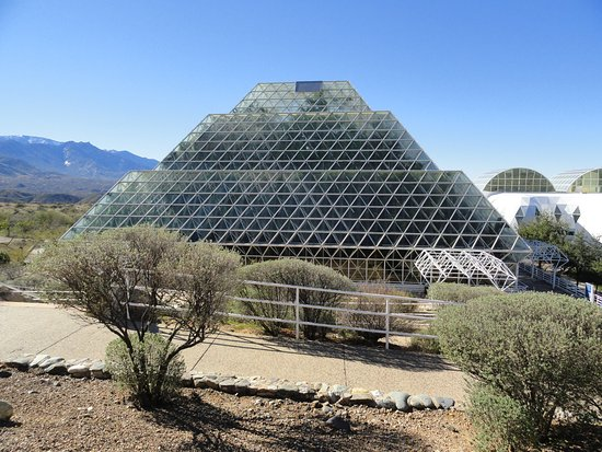Biosphere 2: A view of the biosphere enclosure.