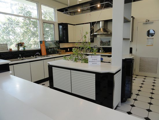 Biosphere 2: The kitchen used by the biospherians.