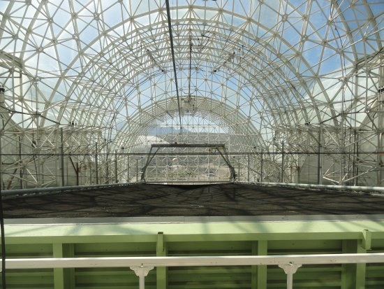 Biosphere 2: The hillslope test facility being set up by the University of Arizona.