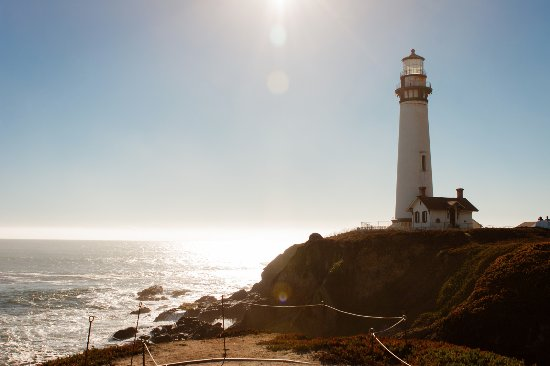Pescadero, CA: The lighthouse, protecting boats from the shore.