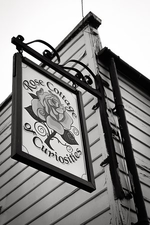 Sheerness Heritage Centre: Black and white photograph of Rose Street Cottage of Curiosities, Sheerness, Kent by Anthony Jon
