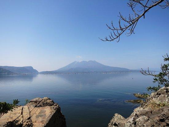 垂水市, 鹿児島県, 太崎観音付近より、桜島と錦江湾の眺め