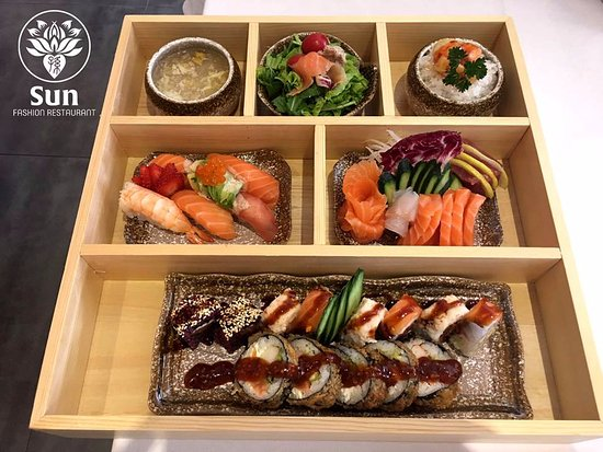 Castel Guelfo di Bologna, Italie : Sushi Sashimi Box