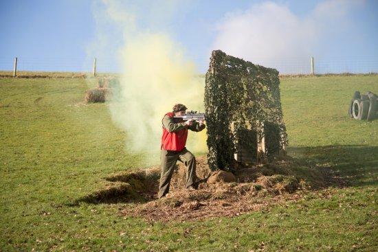 Longhope, UK: outdoor laser combat