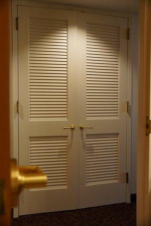 Suncoast Hotel and Casino: closet faceing bathroom