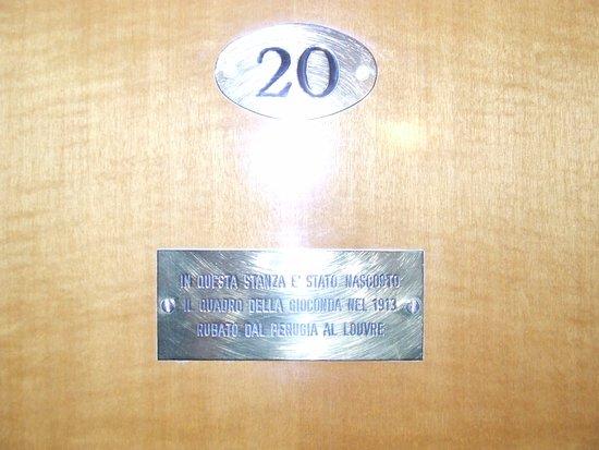 Hotel La Gioconda: La mitica stanza n.20 dove ha soggiornato il ladro della Gioconda