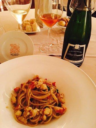 Ristorante Berbel : Spaghetto grezzo con aglio,olio,peperoncino e astice