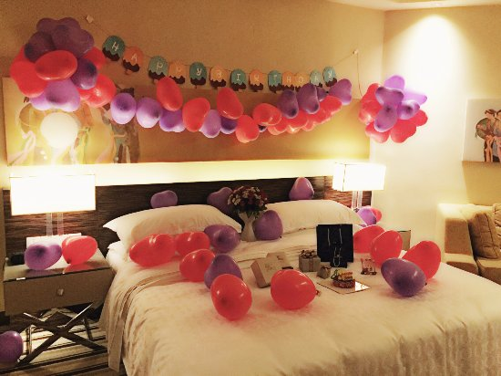 Hotel Room Decorate For Birthday Modern House Interior And