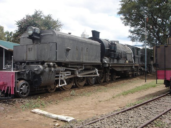 Railway Museum: big steam engine