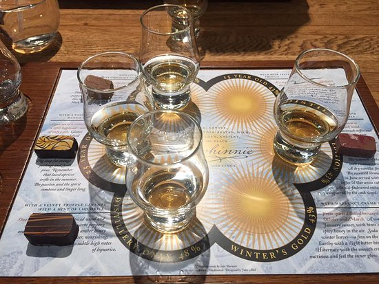 Dalwhinnie, UK: Chocolates and whiskys!