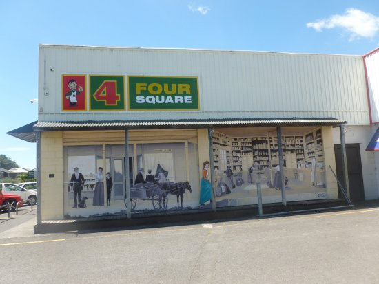 Katikati, New Zealand: Shop within a shop mural