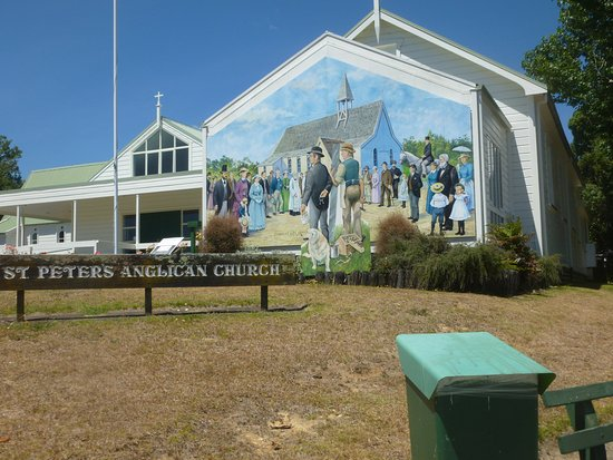 Katikati, New Zealand: Fascinating 3D church mural