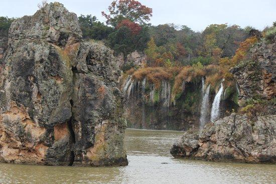 Vanishing Texas River Cruise: Lake Buchanon waterfalls