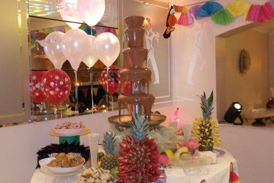 Tropical Party Chocolate Fountain Picture Of La Familia Restaurant