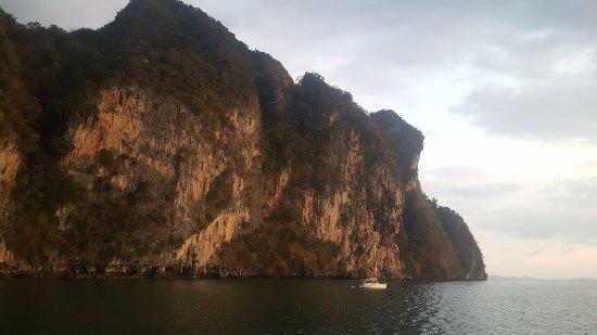 John Gray's Sea Canoe: third island just before sunset