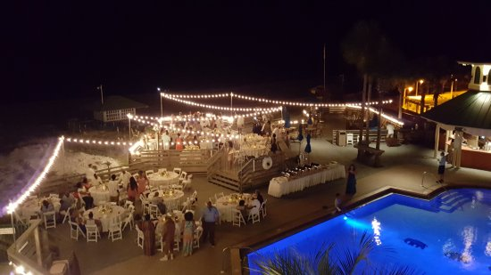 The Beach House Wedding Reception On Our Pool Deck