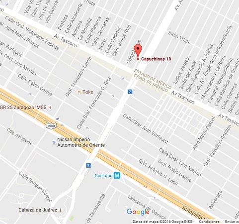 Nezahualcoyotl Mexico Map.Hotel Capuchinas Lodge Reviews Price Comparison Ciudad