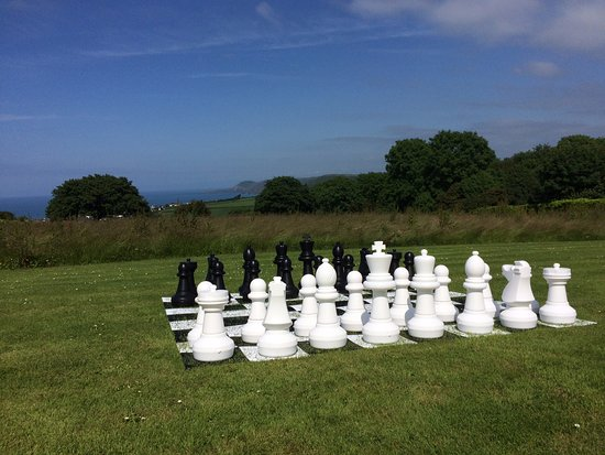 Aberporth, UK: Giant chess with a view
