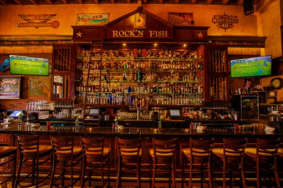 Rock'N Fish: Our gorgeous back bar!