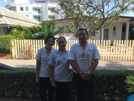 Cera Resort Chaam: Some of the lovely restaurant staff