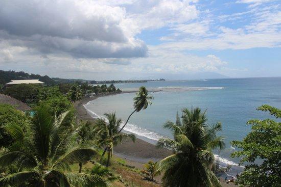 Arue, Fransk Polynesia: Blick aus dem Zimmer Richtung Moorea/Papeete