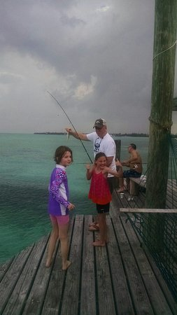 Andros: Great Fishing for kids off the Pier
