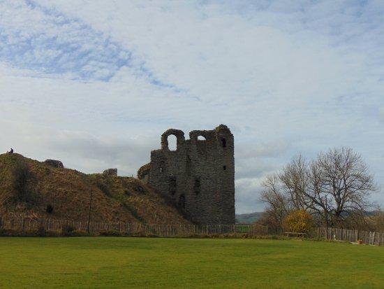 Entering Clun Castle site