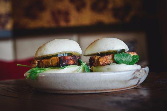 Sunshine Beach, Australia: Pork Belly sandwiches.