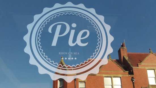 Rhos-on-Sea, UK: Pie logo on sunny day, Rhos on Sea
