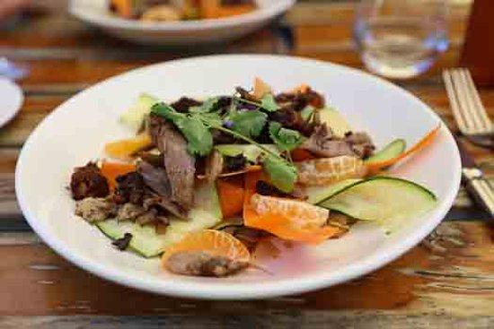 Saint Clair Family Estate Vineyard Kitchen: Crispy Duck Salad - amazing!