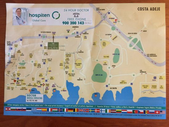 map of the area neaby the Bahia Principe Tenerife Picture of
