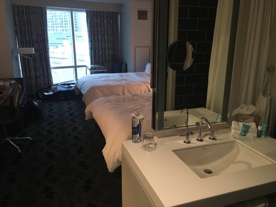 "W Dallas Victory Hotel: Bathroom ""in"" your hotel room!"