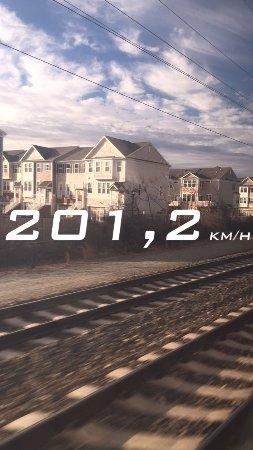 Pennsylvania Station: Velocidade medida pelo celular