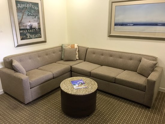 Crystal Beach Suites Oceanfront Hotel Premium King Large Oceanview Suite Living Room With Queen Sleeper