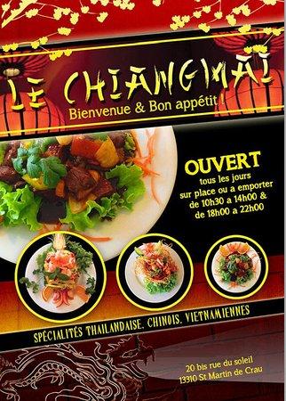 Saint-Martin-de-Crau, Francia: Brochure servant également de menu