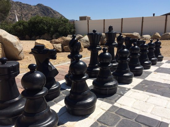 Kernville, CA: Giant Chess & Checkers set