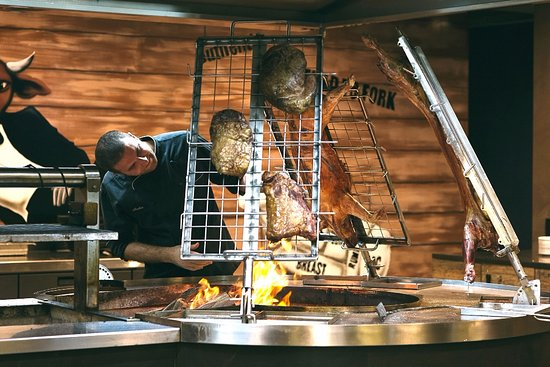 Mascot, Australia: Our meats are Skilfully slow cooked over the traditional wood fired Parilla and Asador grills