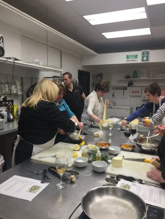 Okotoks, Canada: Great time at the Pasta making class - Spinach Ricotta Ravioli. Check out the schedule for upcom