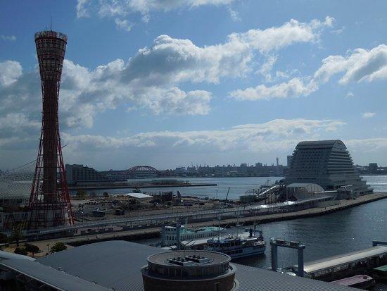 Hotel La Suite Kobe Harborland: テラスからの神戸港の眺め